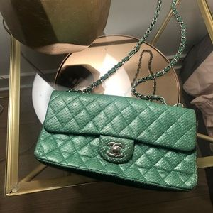 Chanel Shoulder Bag Green